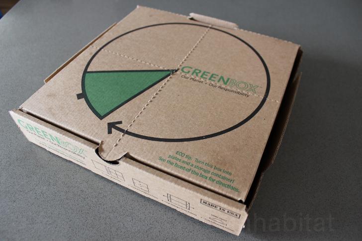 Caja pizza con troquel