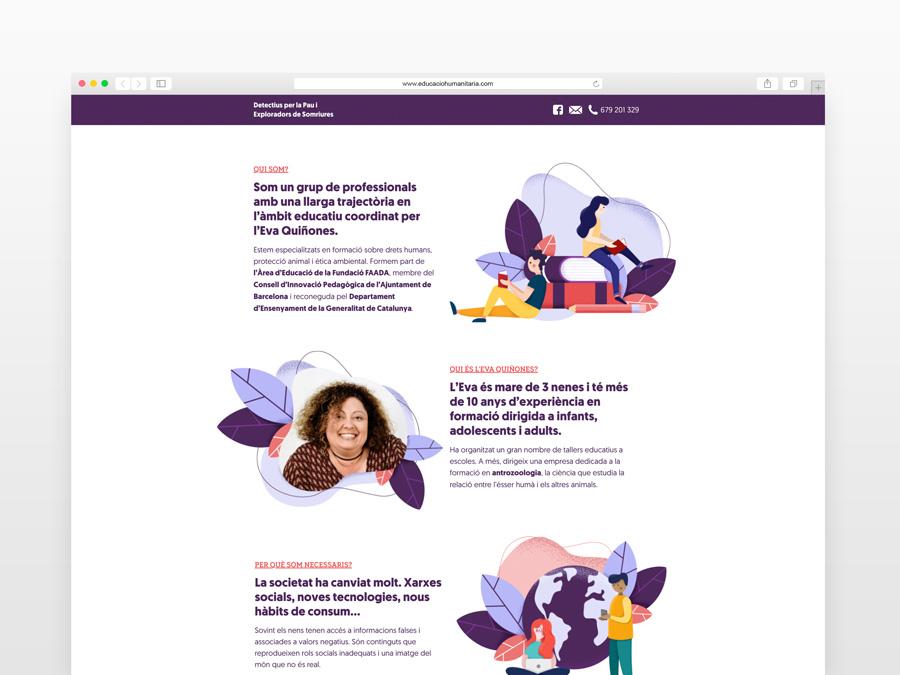 """Web3 """"Educació humanitària"""" - Laia Vives"""