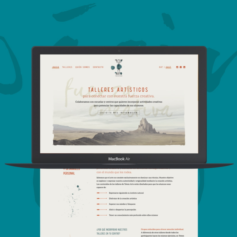 Página web Totem Arts - Laia Vives